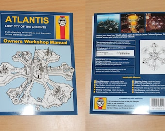 Stargate Atlantis, Haynes cover, Printables, Digital Download