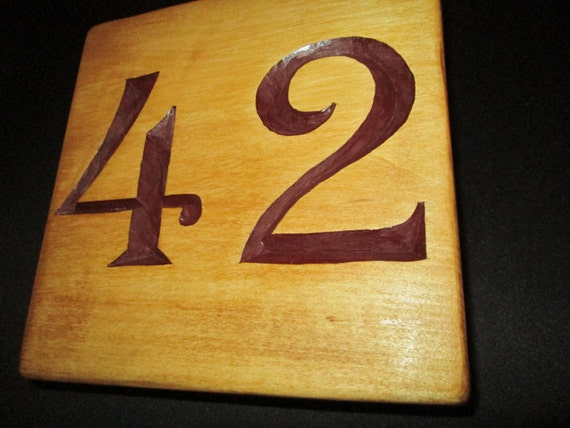 House number hand carved chip carving wood etsy