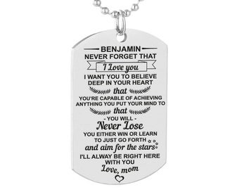 Jewellery & Watches Humorous To My Son Learn From Everything You Can Stainless Steel Dog Tag Pendant Necklace Love Mom For Son Man Boy Birth Memorial Jewelry