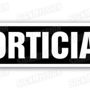 FUNERAL DIRECTOR Aluminum Street Sign death mortician undertaker burial crematio