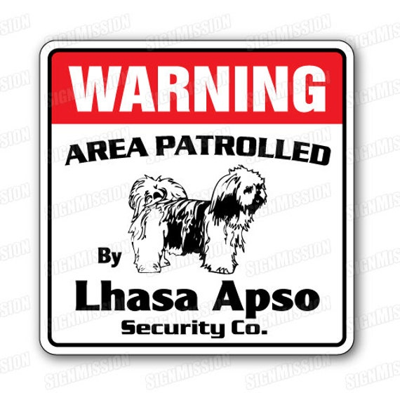 Lhasa Apso Dog Crossing Xing Sign New Made in USA