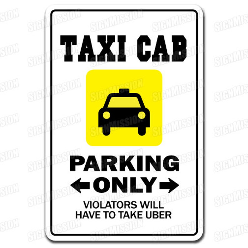 TAXI CAB Novelty Sign gift lyft uber driver chauffeur cabby cabbie stand