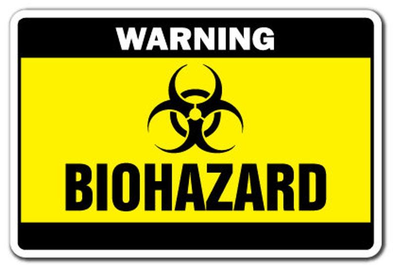 Biohazard Warning Sign Danger Signs Toxic Symbol Bio