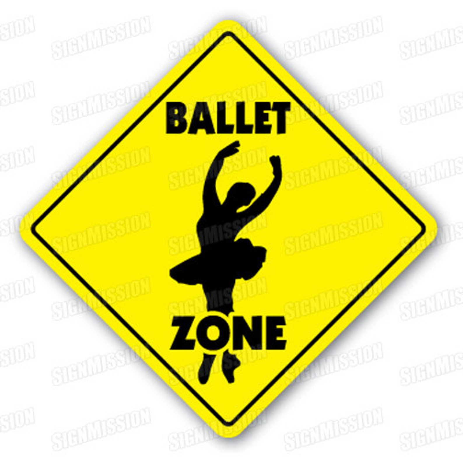 ballet zone sign xing gift novelty tutu shoes dance nutcracker bar recital