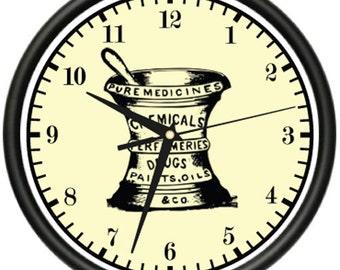 Pharmacy Wall Clock Pharmacist Drug Store Decor Gift