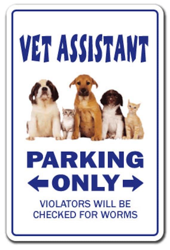 Vet Assistant Sign Veterinarian Veterinary Animal New Etsy