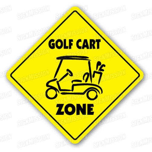 GOLF CART ZONE Sign novelty gift sport golfer for sale