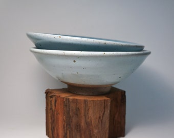 Blue Chun Stoneware Medium Sized Bowls, Set of 2