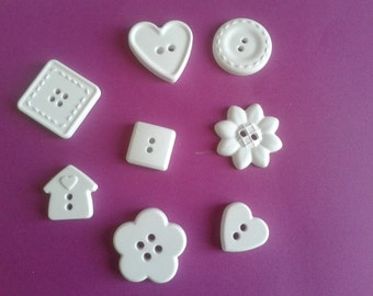 Chalks buttons various forms