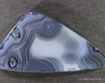Russian Blue Agate cabochon (stabilized).  26.92 carats