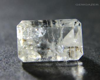 Orthoclase Feldspar var: Hyalophane, faceted, Bosnia & Herzegovina. 3.78 carats.