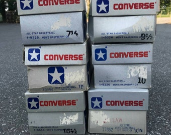 6x vintage converse PACK, rare sizes, 7.5 - 10.5 US, green size 10!