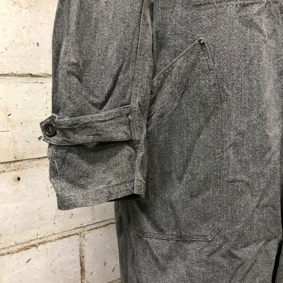 vintage 40s chambray coat french workwear maquign… - image 4