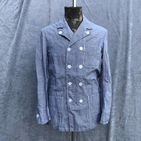 deadstock 50s butcher jacket au moline vintage fre