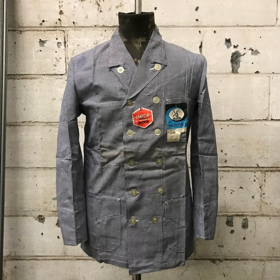 deadstock 50s butchery jacket french workwear vint
