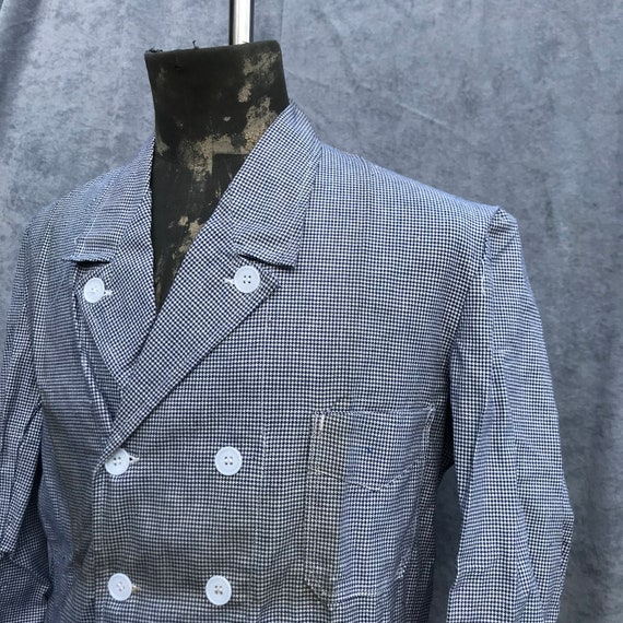 deadstock 60s butchery jacket vintage french work… - image 2