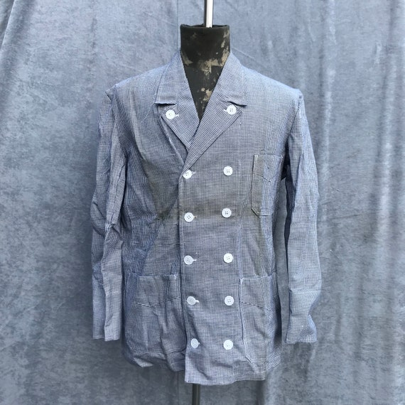 deadstock 60s butchery jacket vintage french workw