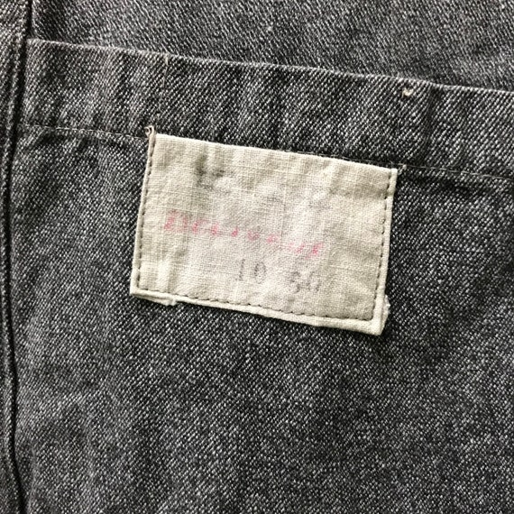 vintage 40s chambray coat french workwear maquign… - image 10