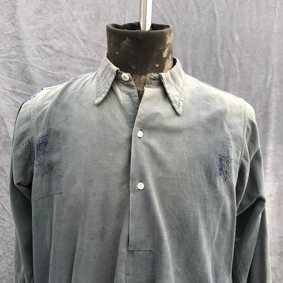 20s vintage french workwear grand pa shirt - image 2