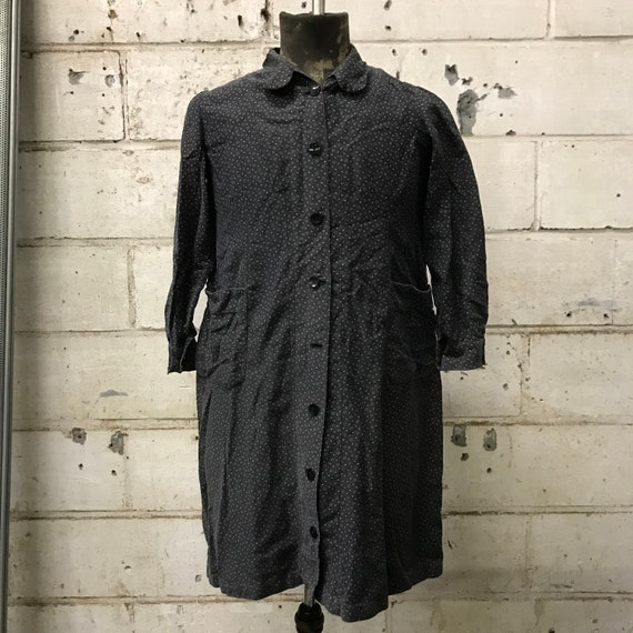 vintage 70s dress french workwear