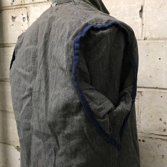 vintage 60s chambray atelier coat french workwear - image 8