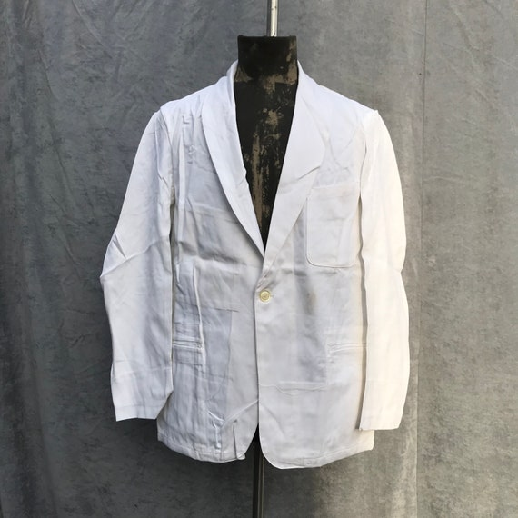 deadstock 50s french workwear barman jacket au mol