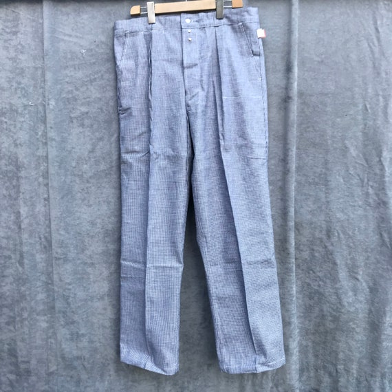 deadstock 50s butchery pants vintage french workw… - image 1