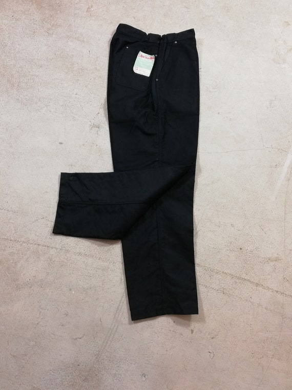 deadstock Vintage 1950'S French workwear Black Mol