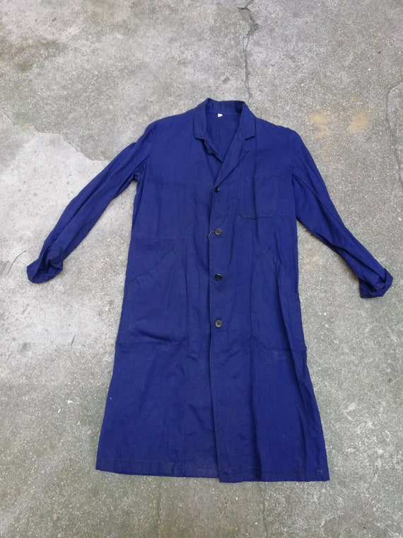 Vintage 1950's French work coat Deadstock Made in