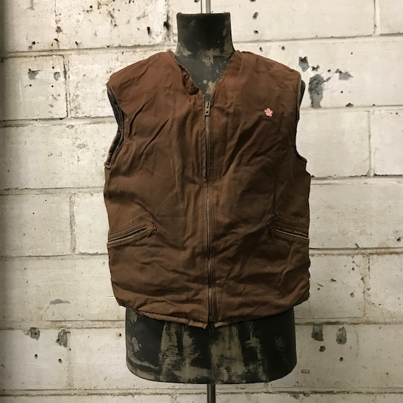 vintage 40s vest french workwear eclair zip - image 1
