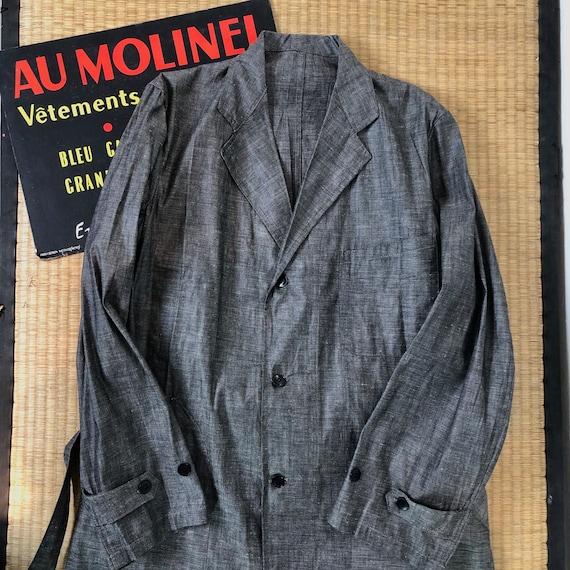 French 1940s atelier coat linen