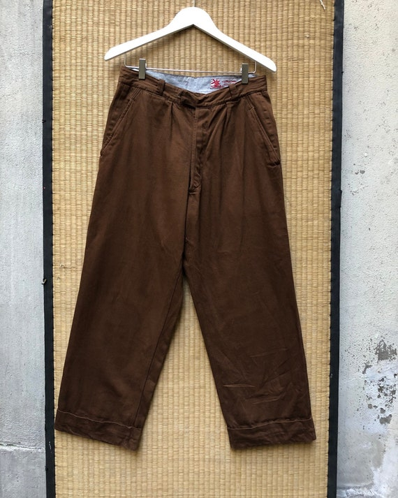 Au Molinel brown 1950s pants