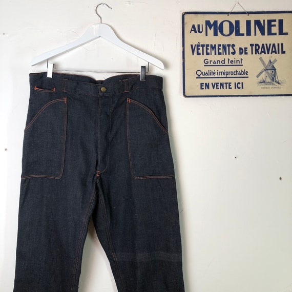 French denim workwear dead stock