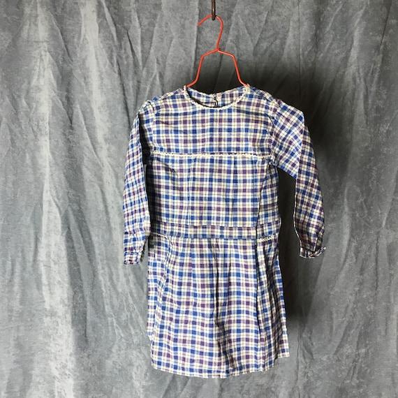 deadstock 40s kids dress vintage french workwear