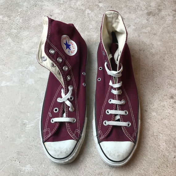 80s made in USA Chuck Taylor Converse bordeaux vin