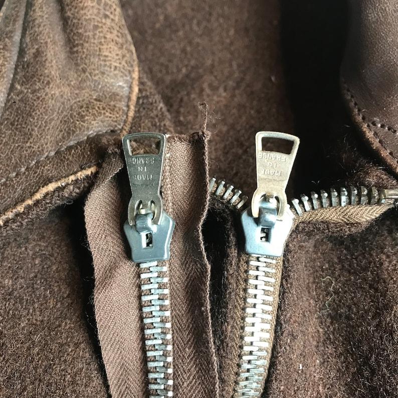 1910s Prophete zip cyclist jacket vintage french  deadstock workwear