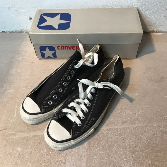 "converse 1980s made in USA size 13 ""black"" dead st"