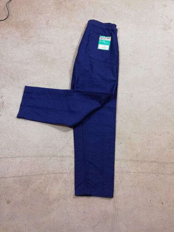 Vintage 1950'S French Blue Moleskin pants Deadstoc