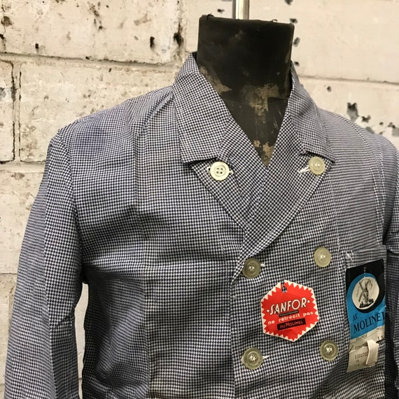 deadstock 50s butchery jacket french workwear vin… - image 2