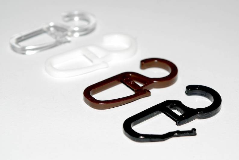 Plastic Curtain Hooks Ø10mm Pack Of 50, Curtain Plastic Hooks