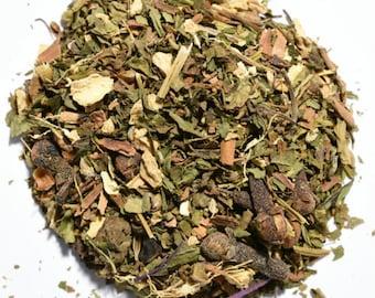 PEPPERMINT CHAI | Artisan Herbal Tea Blend | Organic | Loose Leaf or Tea Bags | Tea Tin | Iced Tea | Eco-Friendly