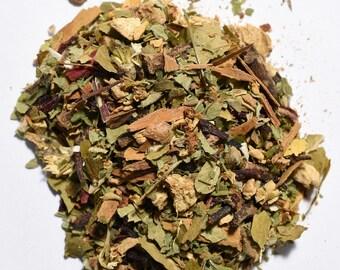 HAWTHORN CHAI | Artisan Herbal Tea Blend | Organic | Loose Leaf or Tea Bags | Tea Tin | Iced Tea | Eco-Friendly