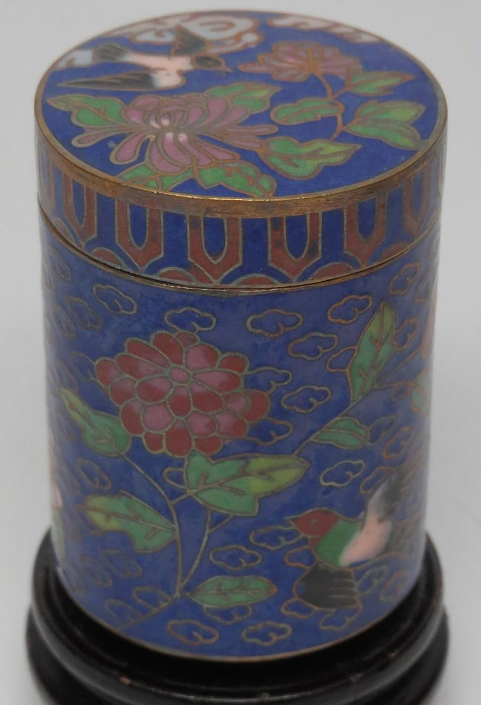 Cloisonne Enamel Bird Mini Jar Vase Gold Plated 60/'s Brass 2 13 Feng Shui