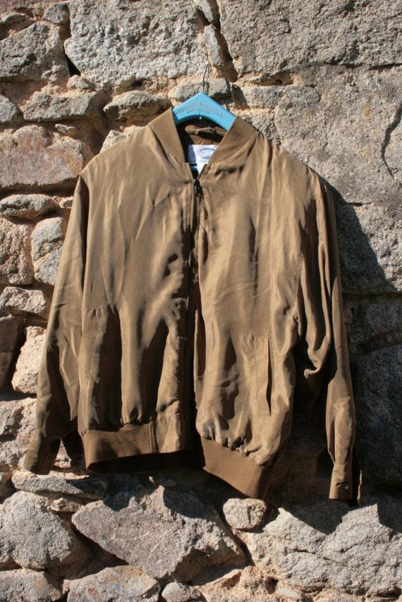 Silk Bomber Jacket - image 3