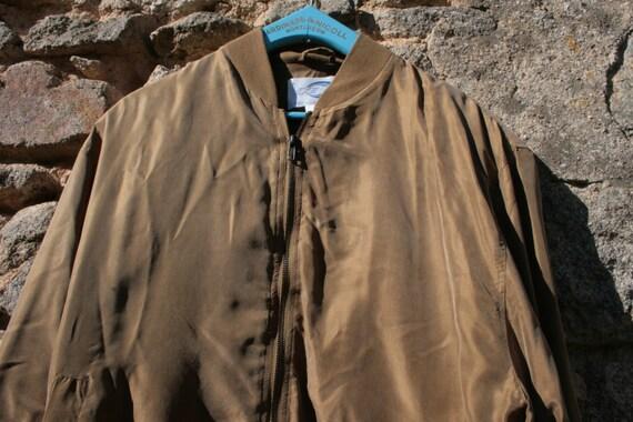 Silk Bomber Jacket - image 1
