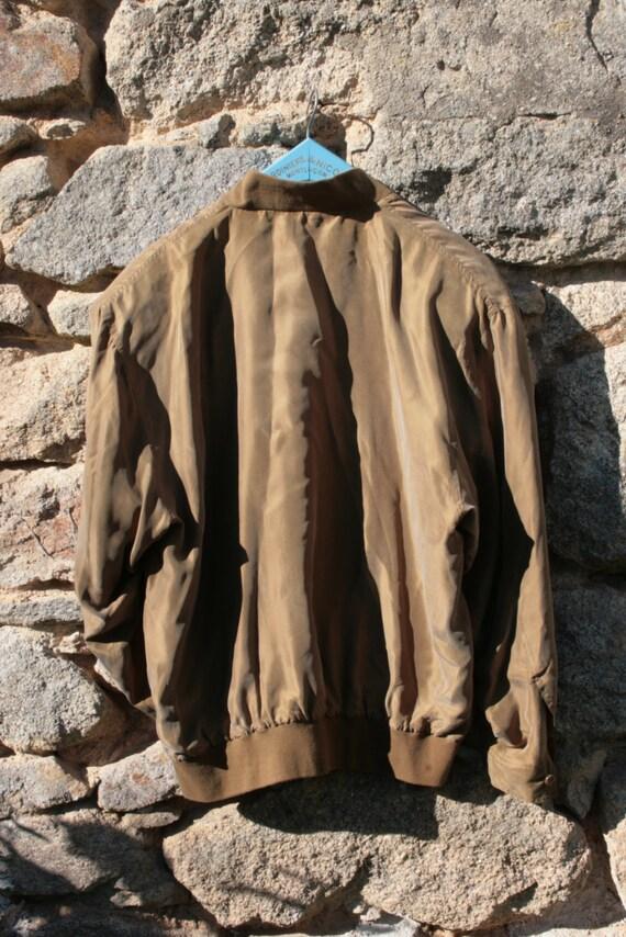 Silk Bomber Jacket - image 4