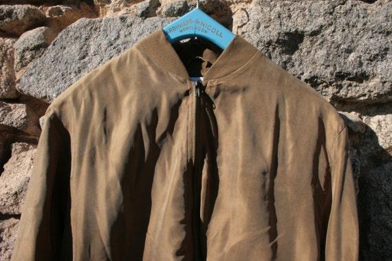 Silk Bomber Jacket - image 5
