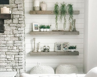 Floating Shelf, Farmhouse Shelf, Rustic Shelf,  Ledge Shelf, Open Shelving, Floating Shelves, Kitchen Shelf, Shelf