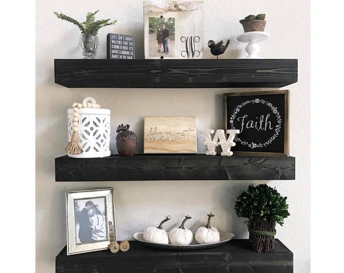 Floating Shelf, Rustic Shelf, Kitchen Shelf, Open Shelving, Nursery Shelf, Floating Shelves, Black Shelf, Farmhouse Shelving, Shelves