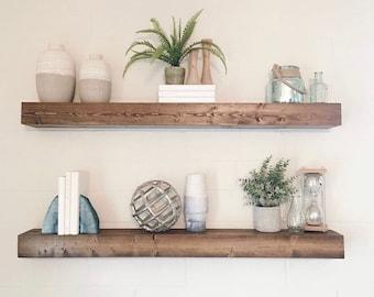 Floating Shelf, Floating Shelves, Farmhouse Decor, Rustic Shelf,  Ledge Shelf, Open Shelving, Bathroom Shelves, Kitchen Shelf, Shelf